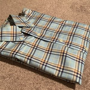 Mens Brooks Brothers Plaid Dress Shirt
